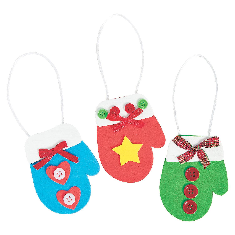 Mitten christmas ornament craft kit oriental trading