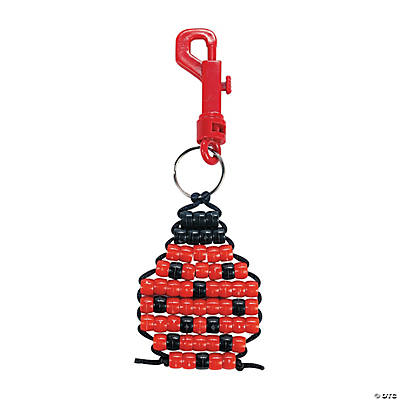 Pony Bead Ladybug Key Chain Craft Kit