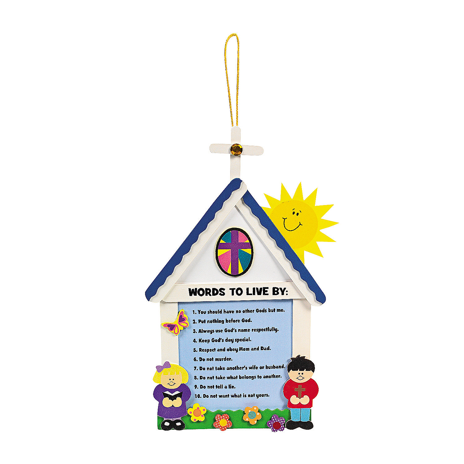 10 commandments for kids craft kit   oriental trading