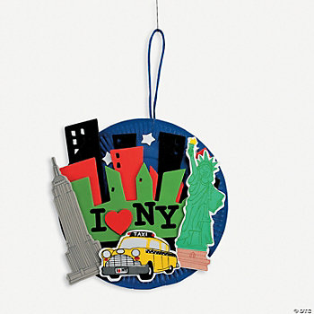 Paper Plate New York Cityscape Craft Kit