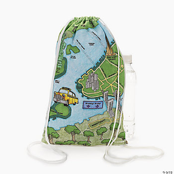 Color Your Own New York Road Map Backpacks