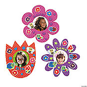 12 Flower Foam Frames Craft Kit