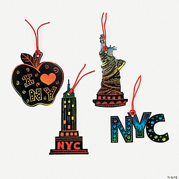 Magic Color Scratch New York Ornaments