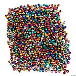 Small Metallic Round Beads - 3mm
