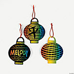 Magic Color Scratch Lantern Ornaments