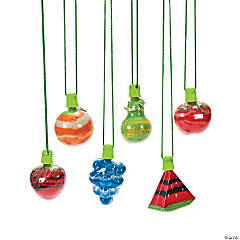 Fruit Sand Art Bottle Necklaces