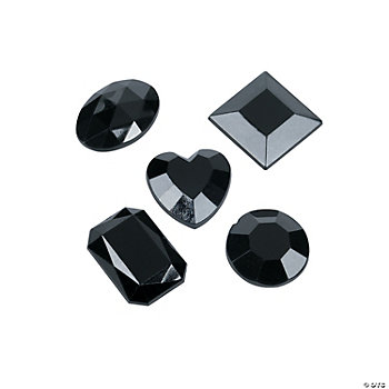 Black Adhesive Jewels