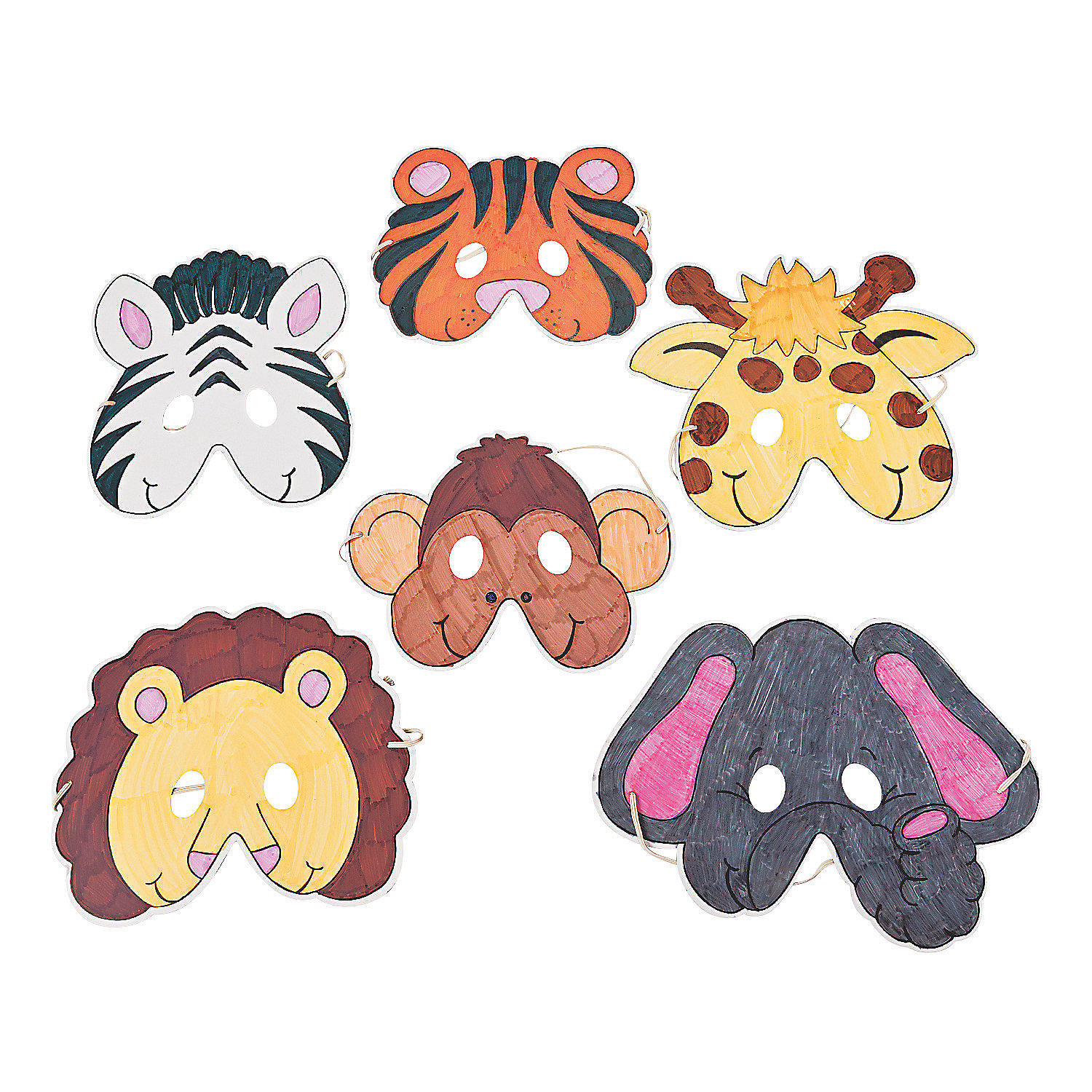 Color Your Own Zoo Animal Masks - Oriental Trading - photo#1