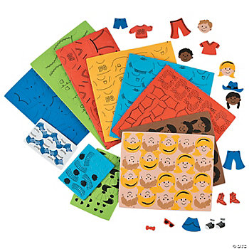 500 Pc. Paper Doll Foam Shapes