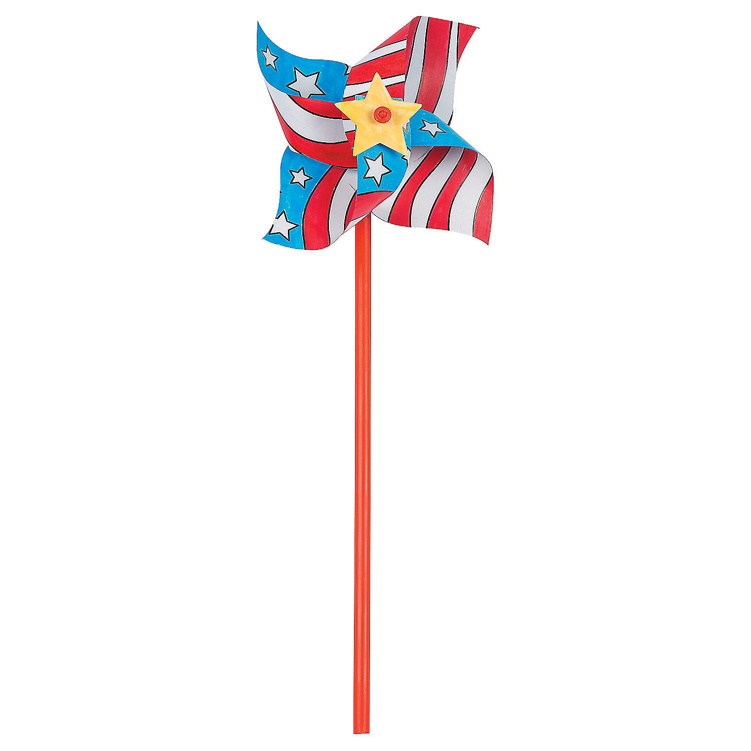 Color Your Own Patriotic Pinwheels - Oriental Trading - photo#7