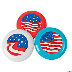 Color Your Own Patriotic Flying Disks