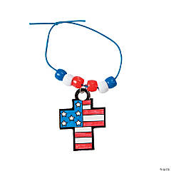 Color Your Own Patriotic Cross Charm Bracelets