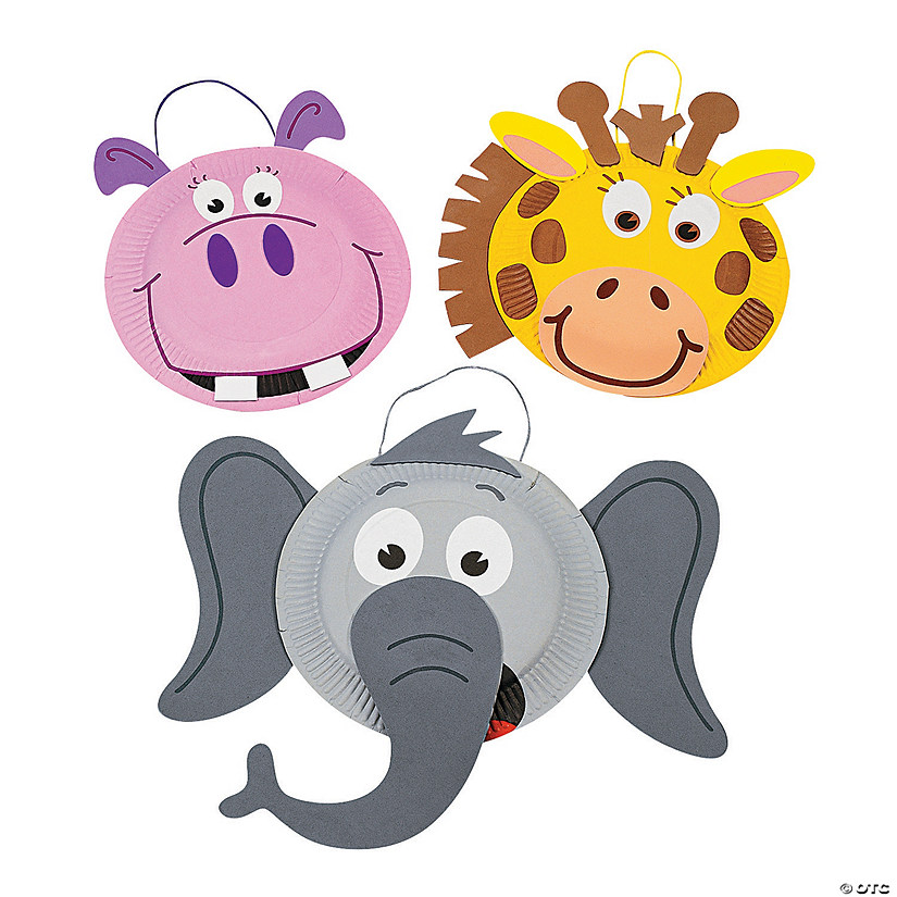 Paper Plate Zoo Animal Craft Kit - Discontinued