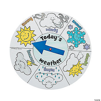 12 Color Your Own Weather Wheels Oriental Trading