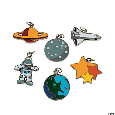 Space Enamel Charms