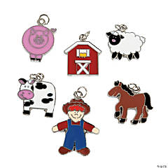 Farm Enamel Charms