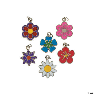 Flower Enamel Charms