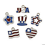 Patriotic Enamel Charms