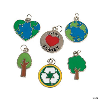 """Save Our Planet"" Enamel Charms"