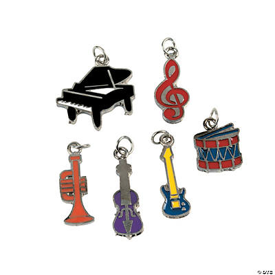 Music Enamel Charms