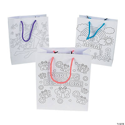"Color Your Own ""Mom"" Gift Bags"