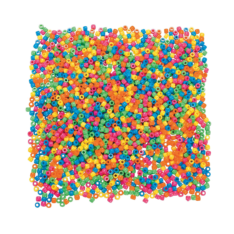 neon pony bead assortment 10mm trading