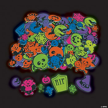 Glow-In-The-Dark Self-Adhesive Halloween Shapes
