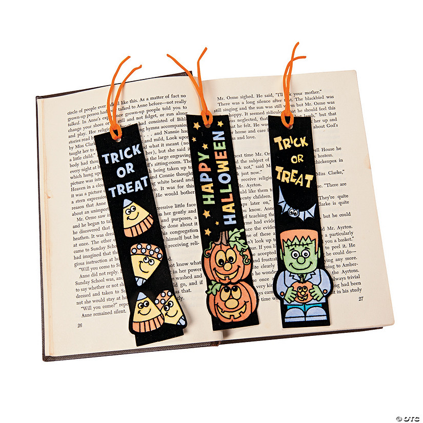 Your Own Halloween Fuzzy Bookmarks