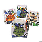 Color Your Own Halloween Tote Bags