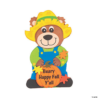"""Beary Happy Fall Y'All"" Magnet Craft Kit"