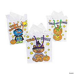 Paper Color Your Own Halloween Bags
