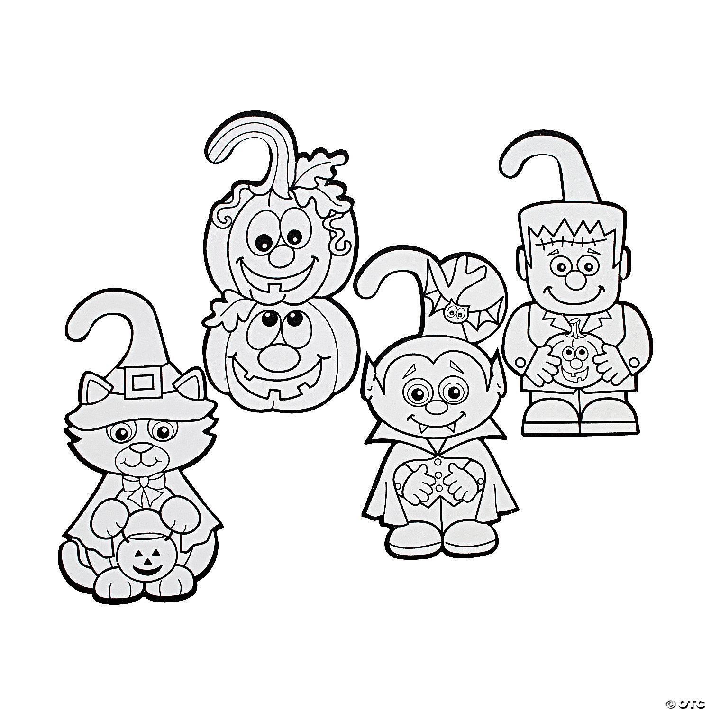 Decorating Ideas > Color Your Own Fuzzy Halloween Door Hangers  Oriental  ~ 114701_Halloween Door Hangers Printable