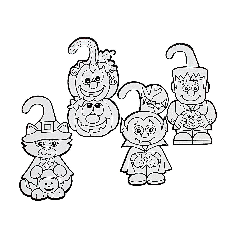 halloween door coloring pages - photo#6