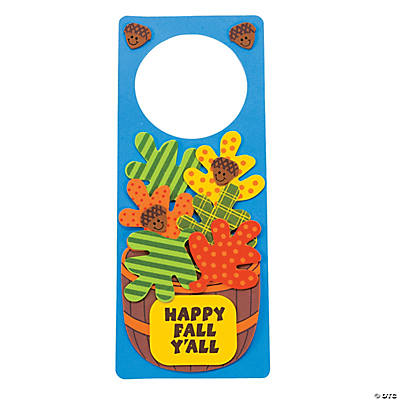"""Happy Fall Y'all"" Doorknob Hanger Craft Kit"