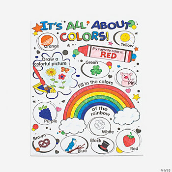 "Color Your Own ""It's All About Colors"" Posters"