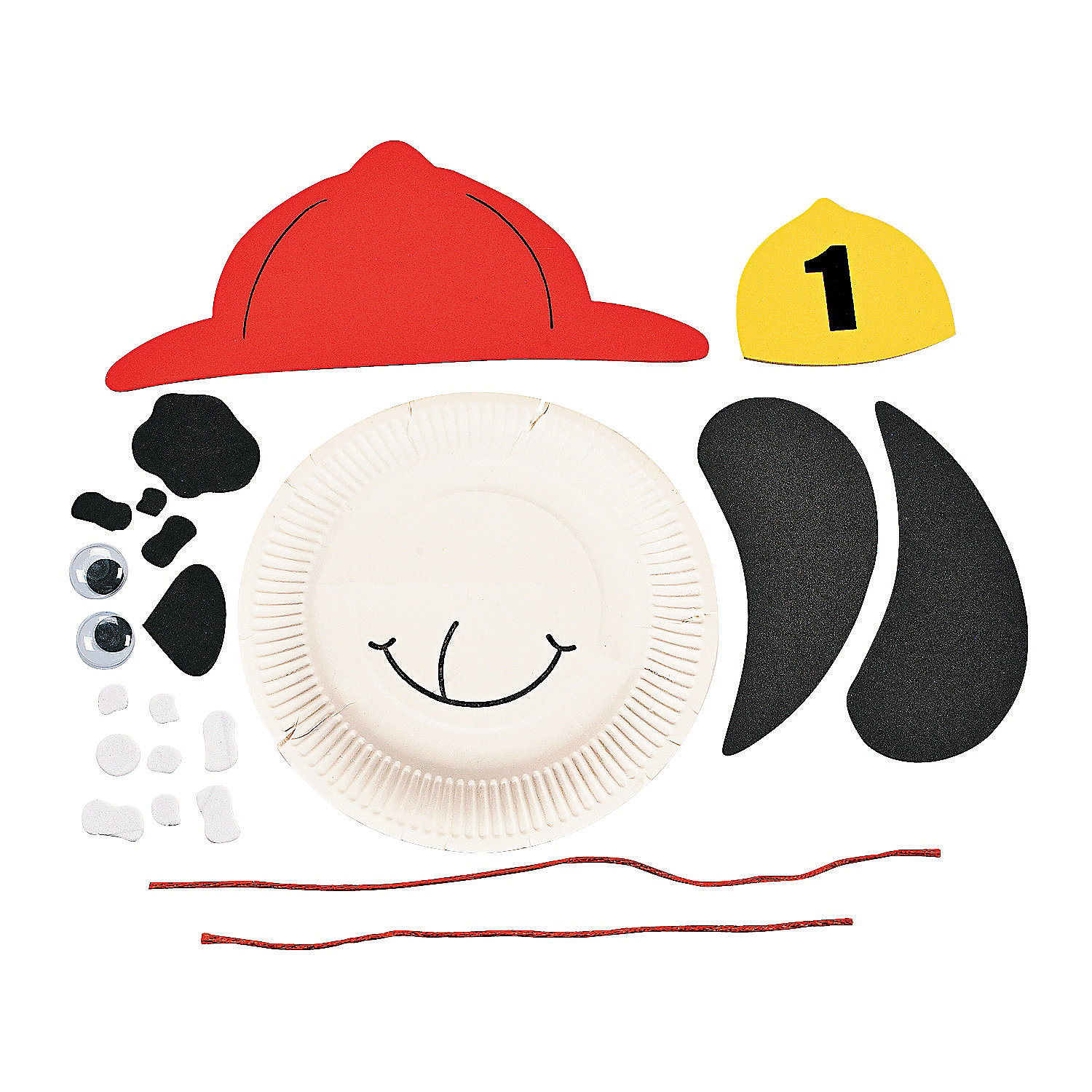 Dalmatian Dog Fire Safety Paper Plate Craft Kits