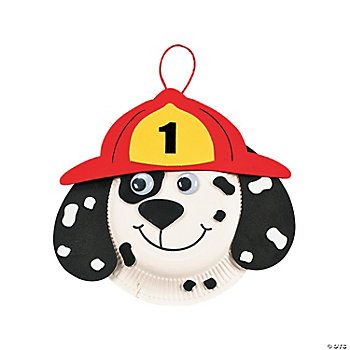 24 Dalmatian Fire Safety Paper Plate Craft Kits