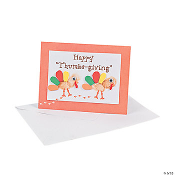 """Happy Thumbs-Giving"" Card Craft Kit"