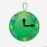 12 Paper Plate Clocks Craft Kit