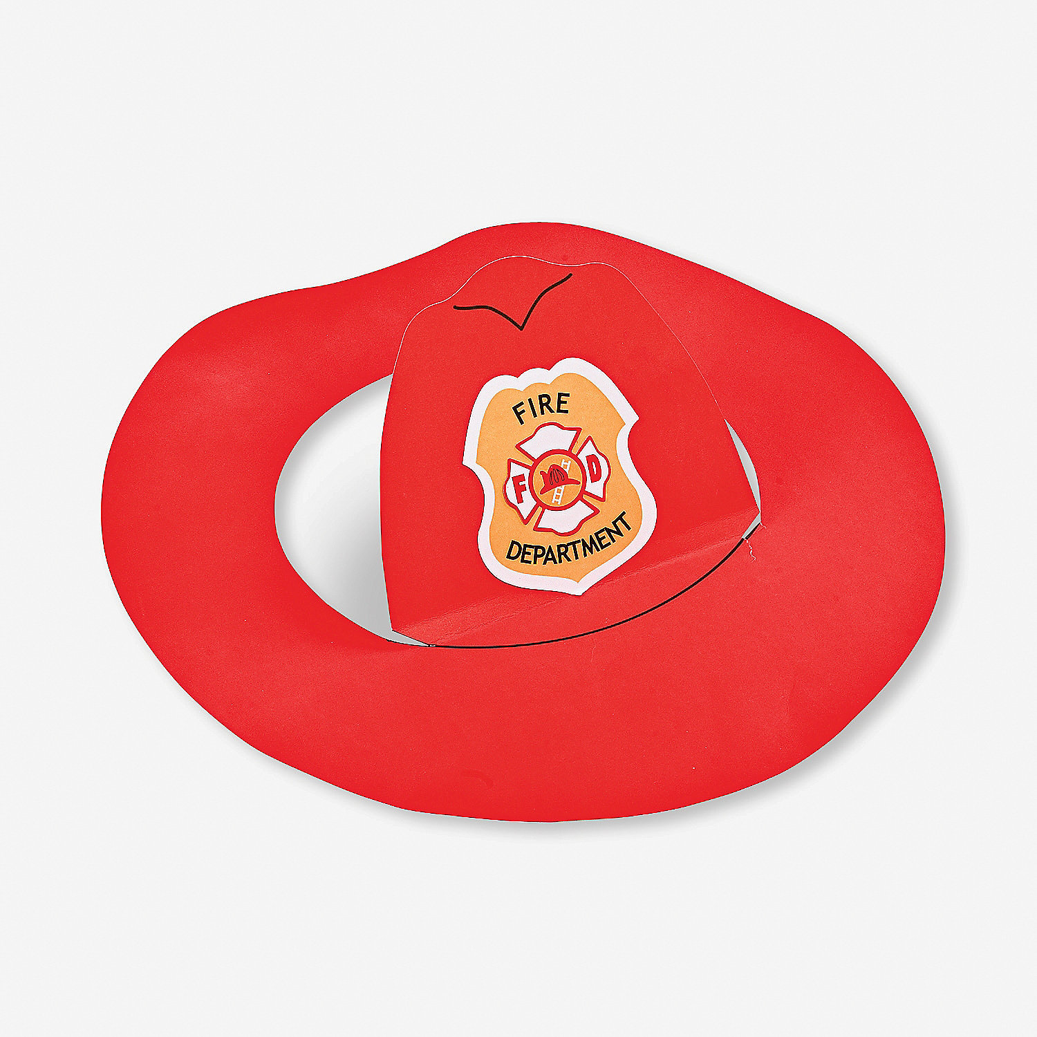 Fireman hats craft kit oriental trading discontinued for Firefighter hat template preschool