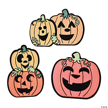Color Your Own Jack-O'-Lantern Fuzzy Magnets