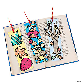 Color Your Own Fall Bookmarks