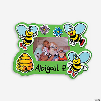 24 Bee Photo Frame Magnets Craft Kit
