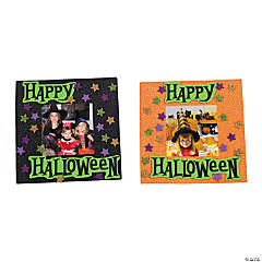 Halloween Glitter Photo Frame Magnet Craft Kit