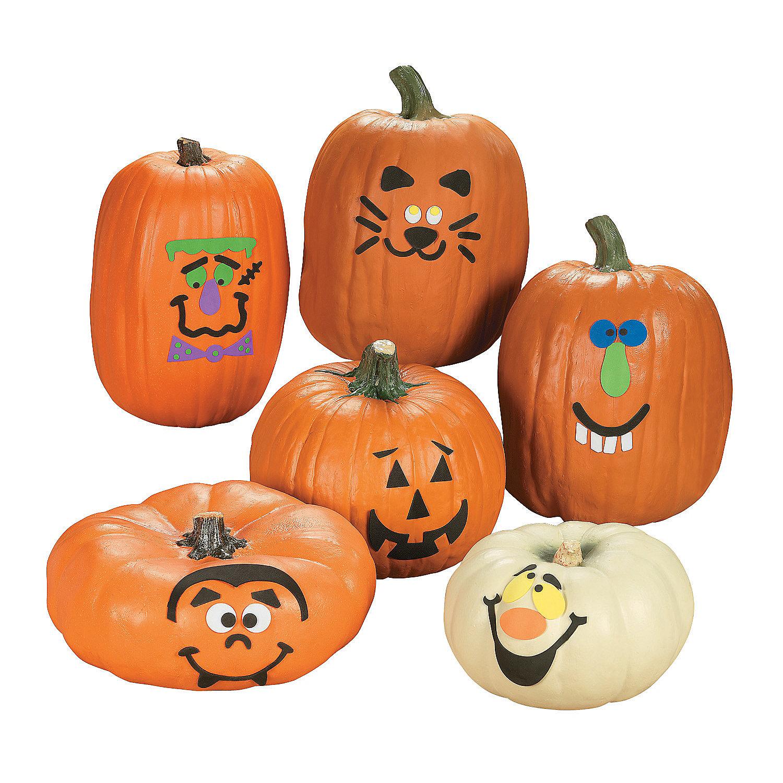 Pumpkin decorating kit 6 pcs oriental trading Halloween pumpkin decorations