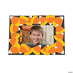 Candy Corn Pattern Picture Frame Magnet Craft Kit