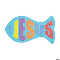 """Jesus"" Fish Sand Art Magnet Craft Kit"