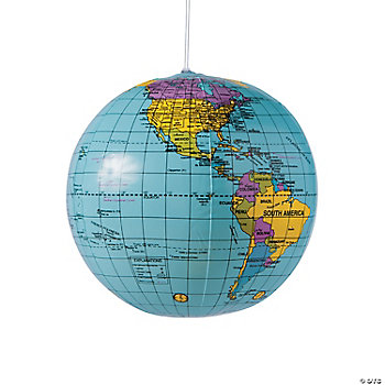 Inflatable World Globes