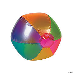 Medium Inflatable Metallic Beach Balls - 9