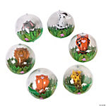 Inflatable Zoo Animals In Beach Balls